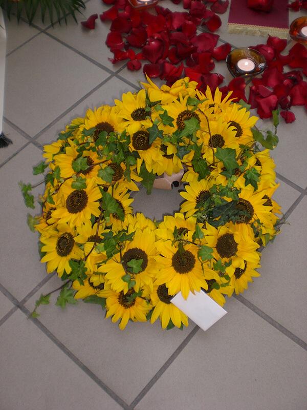 Kranz aus Sonnenblumen